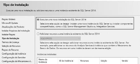 Instalação SQL server - Passo 02