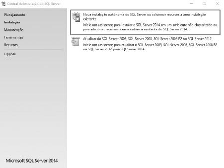 Nova instalação - SQL Server